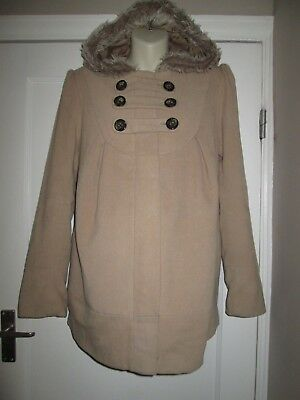 Lovely Size 16 Beige New Look Maternity Coat See Pics!!