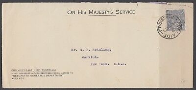 Australia 1929 OHMS Cover 3d OS Perf. Contents Concern New Airmail Service