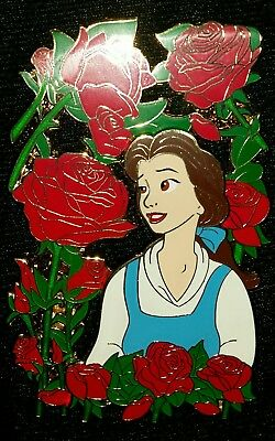 Disney Belle Beauty and the Beast Rose Jumbo LE Fantasy Pin