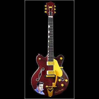 Baby Axe Elvis Presley Gretsch Guitar Miniature Instrument 25 cm Boxed