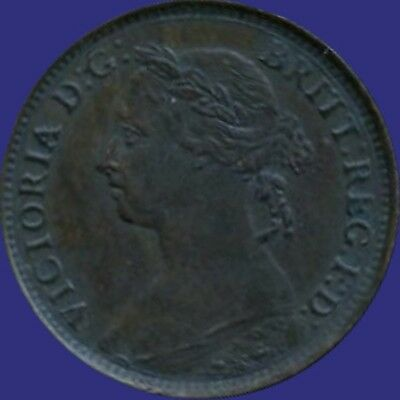1890 Great Britain 1 Farthing Coin