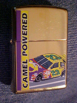 Brass Zippo Lighter, Camel Powered No. 23, Brand New In Original Package