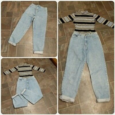 """Vintage 90s Gap stonewash mom jeans. Relaxed fit. UK 10, L29"""". Grunge"""