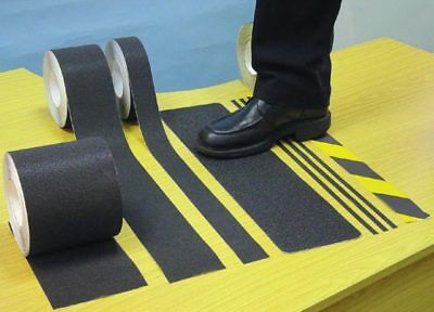 Anti-Slip Tape - Black & Yellow - 18m x 50mm
