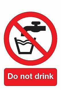 Do Not Drink Sign - Self Adhesive Vinyl - 100mm x 75mm