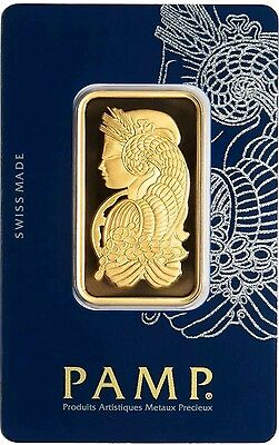 Sale Price - 1 oz Gold Bar PAMP Suisse Lady Fortuna Veriscan .9999 Fine (In Assa