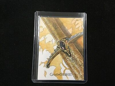 2017 Game Of Thrones Valyrian Steel Sword Sketch By Roy Covers Amazing Card