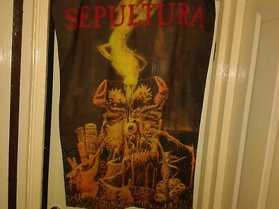 sepultura flags/banners patches and pin