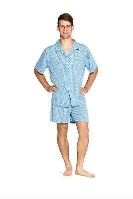 Pyjamas Mens Short Summer Pyjamas (M-XXL) Pjs Set Blue Diamond Sz S M L XL XXL