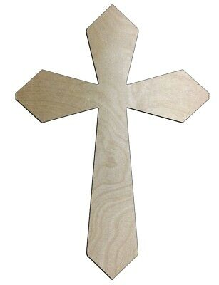 UNFINISHED WOOD CROSS Speedy 3 - 6'' tall - Quantity 10