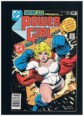"DC Showcase #97 Power Girl 1ST ""SOLO"" KEY"" BRONZE AGE 1978 FREE BAG+BOARD"