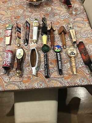Lot of 15 Different Beer Tap Handles #6