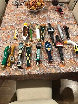 Lot of 16 Different Beer Tap Handles #8