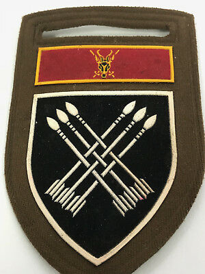 South African Army 32 Battalion Rubberized Shoulder Flash With Army Hq Command