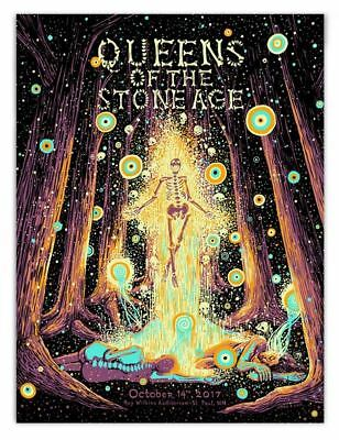 Queens of the Stone Age Poster St Paul MN QOTSA Villains Signed Print James Eads