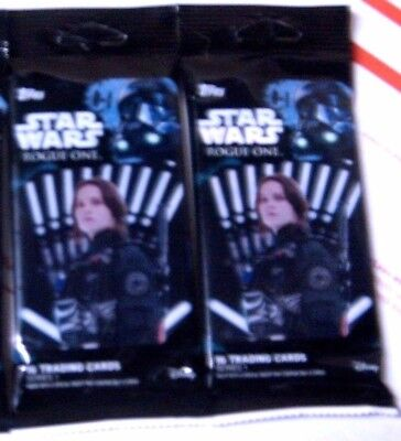 2016 TOPPS STAR WARS*ROGUE ONE(series one)f/s FAT PACK LOT of 2*L@@K for AUTOs*