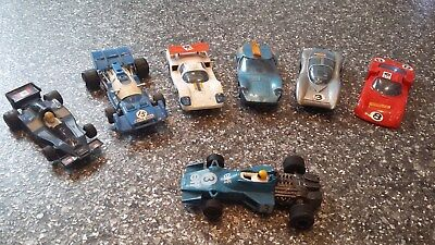 5 x Polistil and 1 x scalextric 1970`s electric track cars