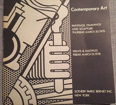 Vintage Sotheby's Catalog March 31, 1978 Contemporary Art Warhol