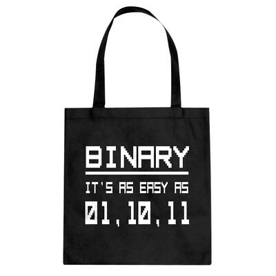 Tote Binary Canvas Shopping Bag #3522