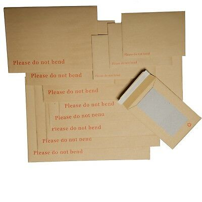 """please Do Not Bend"" Hard Board Backed Envelopes Brown Envelopes A3 A4 A5 A6"