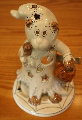 Super Sweet Blue Sky Clayworks Heather Goldminc Halloween Ghost Bear T Light