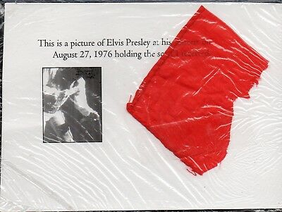 ELVIS PRESLEY San Antonio Concert Worn Piece of Scarf numbered (by Jack Dennis)