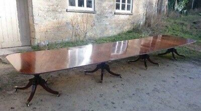 antique table very long