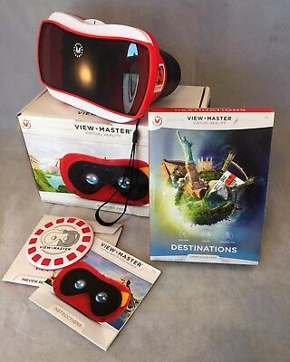 Viewmaster VR Virtual Reality w Destinations & Pass View Master Viewer Excellent