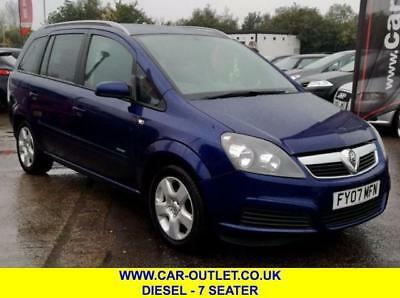 2007 Vauxhall Zafira Energy 1.9 Cdti 7 Seater Part Service Histor Diesel