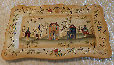 Party Lite Winding Lane by Susan Winget Arbor House decorative tray - No Food