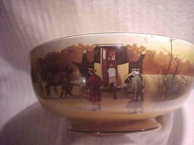 """Large Royal Doulton """"Coaching Days"""" Footed Serving Bowl -- MINT & never used"""