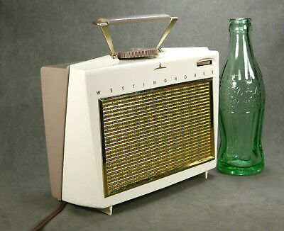 Westinghouse Model H558P4 Vintage Portable Tube Radio From 1957 With Handle