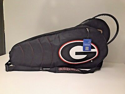 "NWT Georgia Bulldogs Oversized Double Tennis Racquet Case 30"" Long"