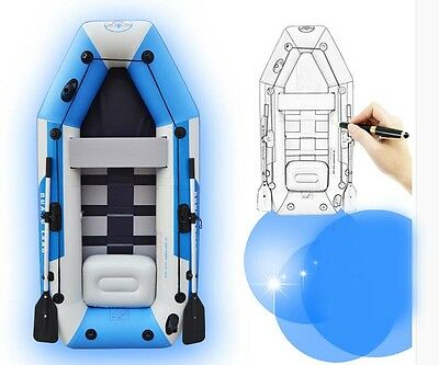 3 Person Length 230CM Width 120CM Height 31CM Water-proof Inflatable Boat &