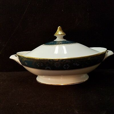 Vintage ROYAL DOULTON Gold CARLYLE England China COVERED TUREEN