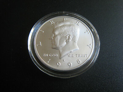 1998-S Kennedy Half Matte Commemorative Silver Coin