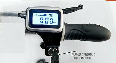24v36v48vacc twist throttle grips with led display screen and lock & key switch