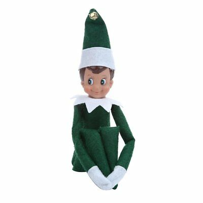 Green Novelty Elf Boy&Girl On The Shelf Plush Dolls Figure Christmas Toy Xmas