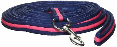 Shires Wessex Soft Feel Lunge Line 8m Navy/Pink