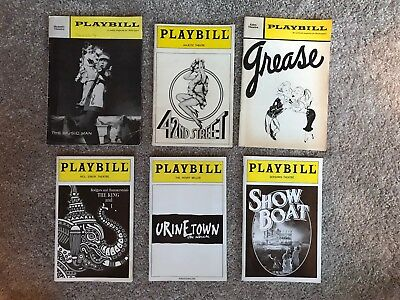 Vintage Broadway Playbills - Lot of 6, The Music Man, Grease, Urinetown