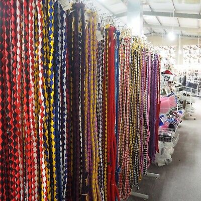 Horse 7ft (2meters)Plaited Nylon rope with a 1 1/4in SOLID BRASS Removable Snap