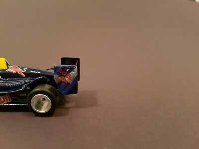 AFX Tomy MEGA G Red Bull F1 Custom Slot Car Real ALU Wheels HO Scale TYCO AW