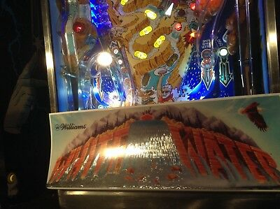 WHITEWATER Pinball TOPPER FOIL Waterfall Reproduction White Water