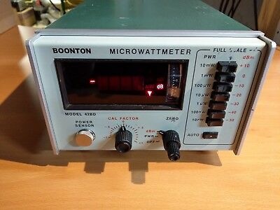 Boonton Electronics 42BD Microwattmeter RF Power Meter Option 01-09