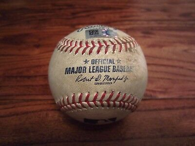 Alex Bregman Astros Game Used 10th Straight Extra Base Hit Game Baseball 8/9/17