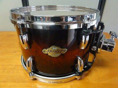 """Pearl Masters Mcx Sst 12"""" X 8"""" Maple Tom In Redburst Exotic Ply Lacquered Finish"""