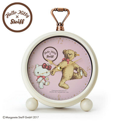 Hello Kitty × Steiff Teddy alarm clock Sanrio