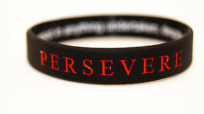 PERSEVERE - Motivational Athletic Silicone Wristband