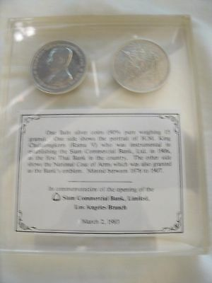 Very Rare Siam Commercial Bank Commemorative Thailand Coin Issue! Silver!