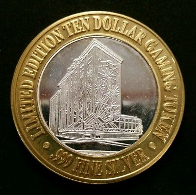 Comstock limited edition  $10 Dollar gaming token  ( .999 Fine Silver )